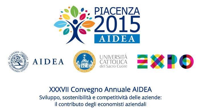 XXXVII Convegno Nazionale AIDEA 2015 Iscrizione