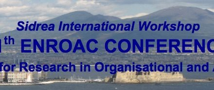 SIDREA International Workshop (SIW)/11th European Network for Research in Organisational & Accounting Change (ENROAC) conference