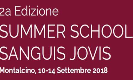 """Dal 10 al 14 dicembre 2018 si svolgerà a Montalcino la seconda Summer School Sangui Iovis su """"Clima, Vite, Cantina, Mercato: come sarà il Sangiovese del futuro""""."""