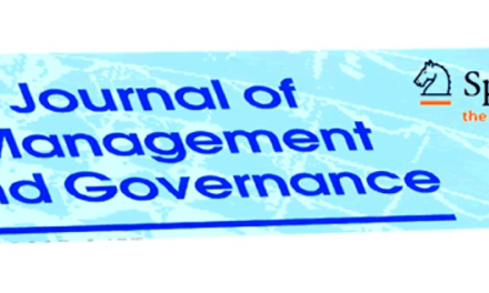 Special Issues of Journal of Management and Governance 2019
