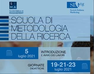"""""""Corso di introduzione ai metodi di ricerca"""" – Scuola di Metodologia della ricerca SIMA-SIM"""